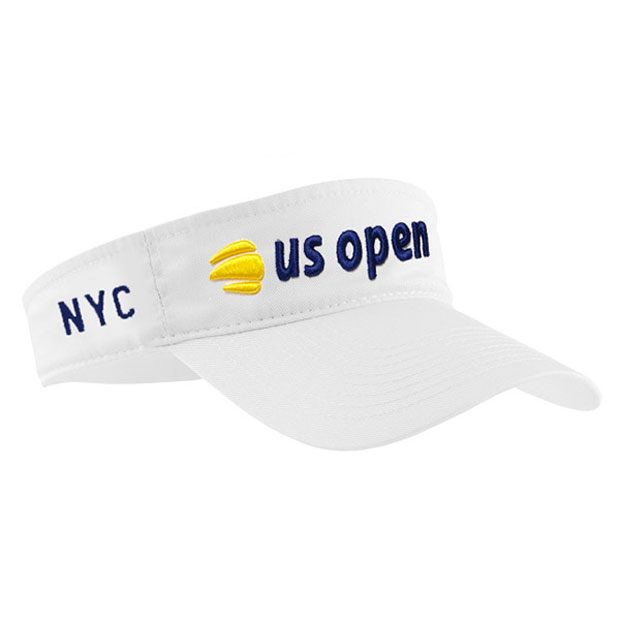 [US오픈 남자용 테니스 바이저] US Open Men's Low Rider Tennis Visor -  White Navy