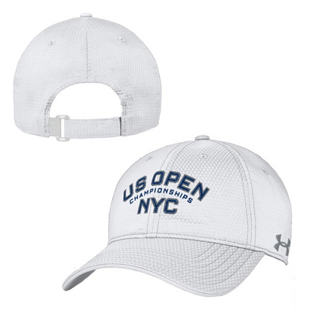 [언더아머 남성용 NYC US오픈 챔피언십 테니스 모자] US Open Under Armour NYC Championships Men's Cap - White Navy