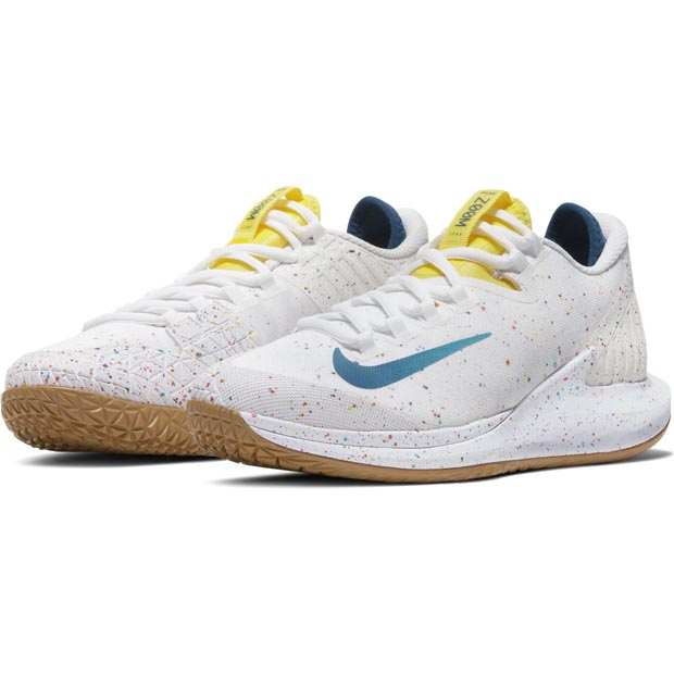 [나이키 여성용 코트 에어 줌 제로 테니스화] NIKE Women`s Court Air Zoom Zero Tennis Shoes - White and Valerian Blue