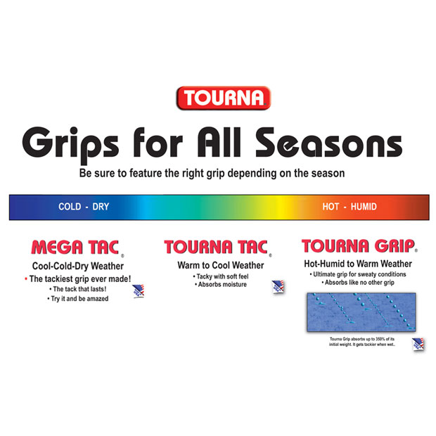 [투나 그립 10 팩 XL] Tourna Grip Blue 10 Pack XL