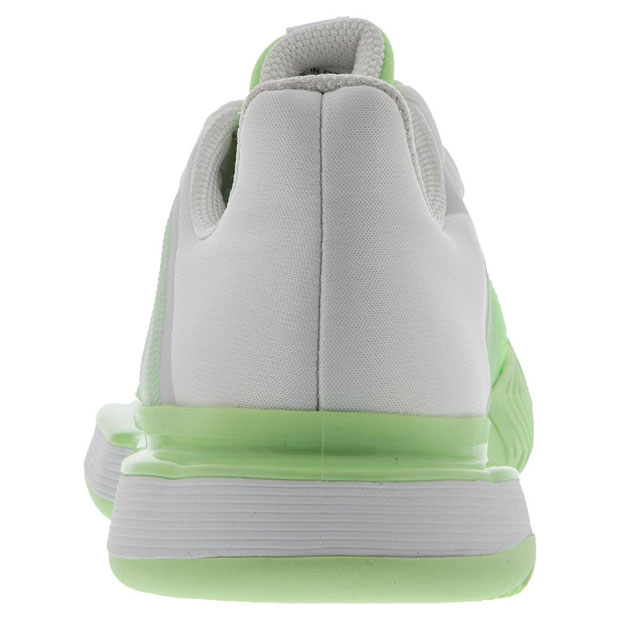 [아디다스 여성용 솔매치 바운스 테니스화]adidas Women`s SoleMatch Bounce Tennis Shoes - White and Glow Green