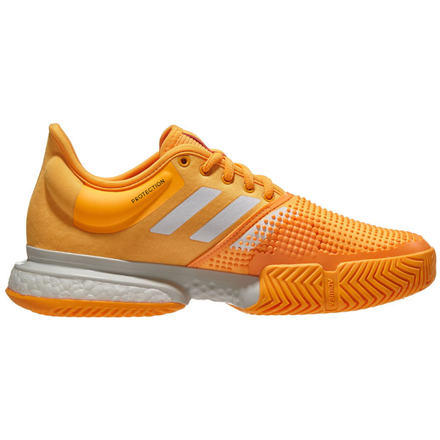 [아디다스 여성용 솔코트 부스트 테니스화]adidas Women`s SoleCourt Boost Tennis Shoes - Flash Orange and White