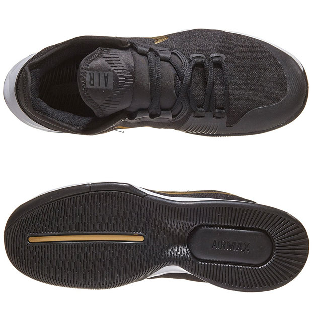 [나이키 남성용 에어 맥스 와일드카드 테니스화] NIKE Men`s Air Max Wildcard Tennis Shoes - Black and Metallic Gold