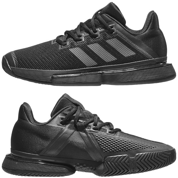 [아디다스 남성용 솔매치 바운스 테니스화] Adidas Men`s SoleMatch Bounce Tennis Shoes - Core Black and Night Metallic