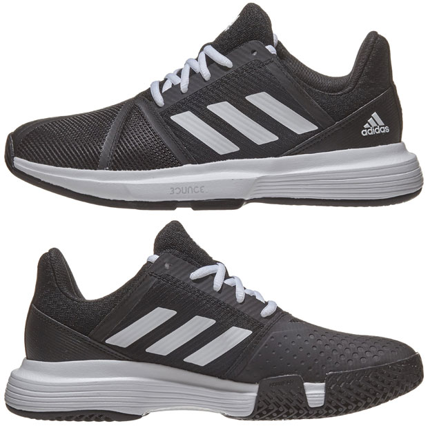[아디다스 여성용 코트잼 바운스 테니스화] adidas Women`s CourtJam Bounce Tennis Shoes - Core Black and White