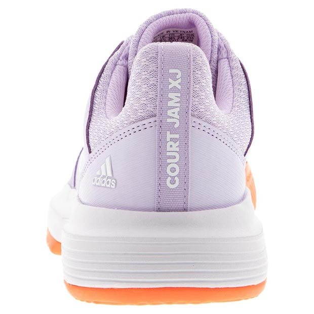 [아디다스 쥬니어 코트잼 XJ 테니스 신발] Adidas Juniors` CourtJam XJ Tennis Shoes - Purple Tint and White