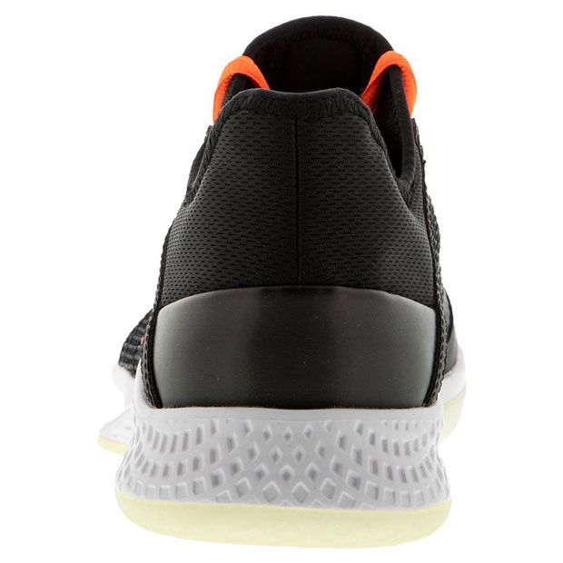 [아디다스 남성용 아디제로 클럽2 테니스화] Adidas Men`s Adizero Club 2 Tennis Shoes - Core Black and Signal Coral