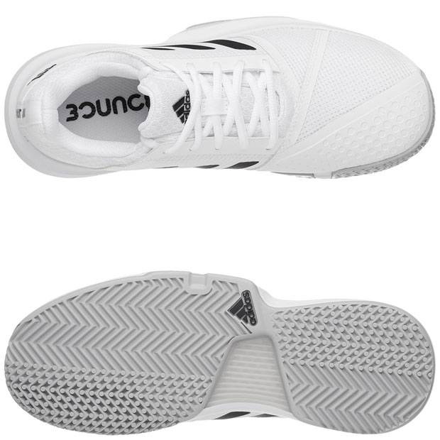 [아디다스 여성용 코트잼 바운스 테니스화] adidas Women`s CourtJam Bounce Tennis Shoes - White and Core Black