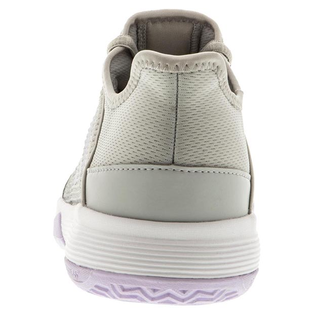 [아디다스 쥬니어 아디제로 클럽 K 테니스 신발] Adidas Juniors` Adizero Club K Tennis Shoes - Gray Two and Purple Tint