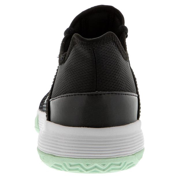 [아디다스 쥬니어 아디제로 클럽 K 테니스 신발] Adidas Juniors` Adizero Club K Tennis Shoes - Core Black and Dash Green
