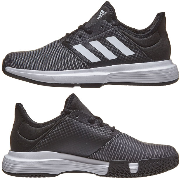 [아디다스 여성용 게임코트 테니스화] adidas Women`s GameCourt Tennis Shoes - Core Black and White