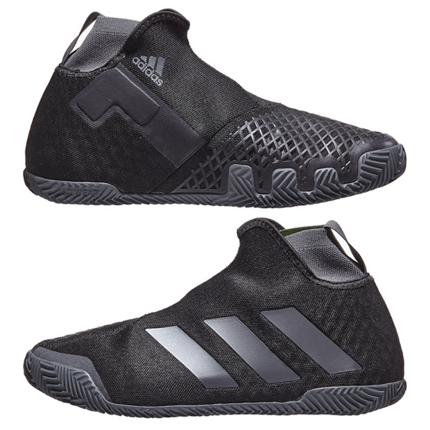 [아디다스 남성용 Stycon 클레이용 테니스화] Adidas Men`s Stycon Clay Tennis Shoes - Core Black and Night Metallic