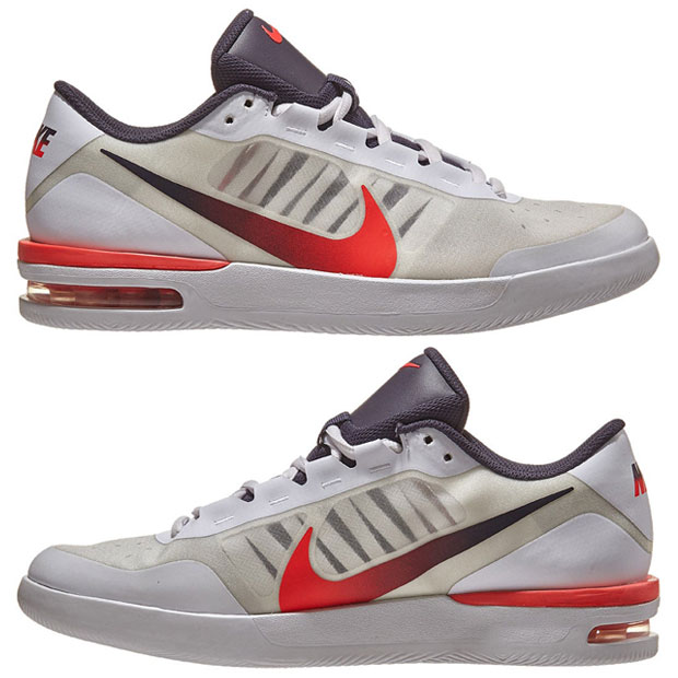 [나이키 남성용 에어 맥스 베이퍼 윙 MS 테니스화] NIKE Men`s Air Max Vapor Wing MS Tennis Shoes - White and Laser Crimson