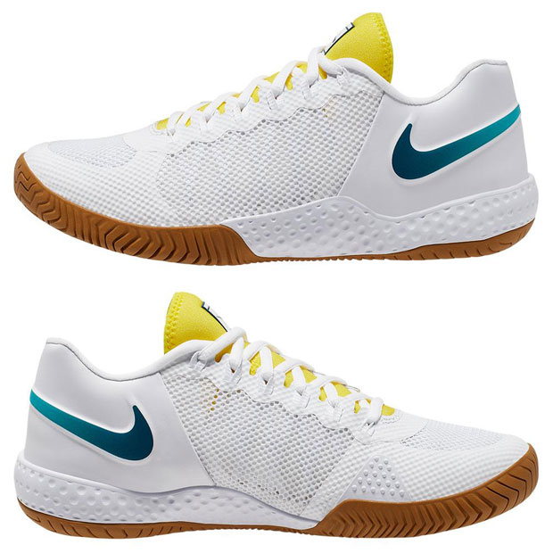 [나이키 여성용 코트 플레어 2 테니스화] NIKE Women`s Women`s Court Flare 2 Tennis Shoes - White and Valerian Blue