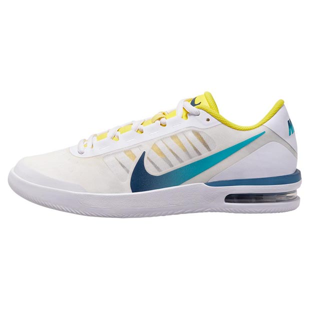 [나이키 여성용 에어 맥스 베이퍼 윙 MS 테니스화] NIKE Women`s Women`s Air Max Vapor Wing MS Tennis Shoes - White and Valerian Blue