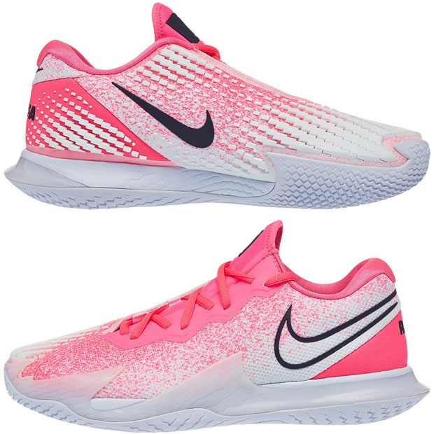 [나이키 남성용 에어 줌 베이퍼 케이지 4 테니스화] NIKE Men`s Air Zoom Vapor Cage 4 Tennis Shoes - Digital Pink and White