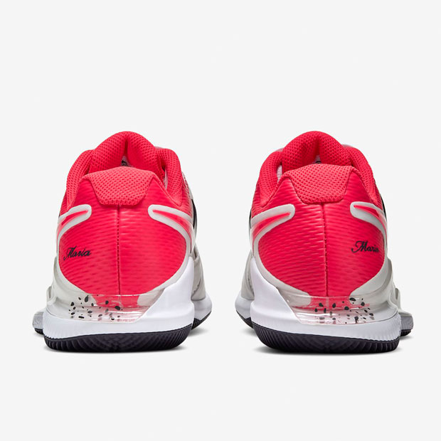 [나이키 여성용 에어 줌 베이퍼 X 테니스화] NIKE Women`s Air Zoom Vapor X Tennis Shoes - Summit White and Laser Crimson