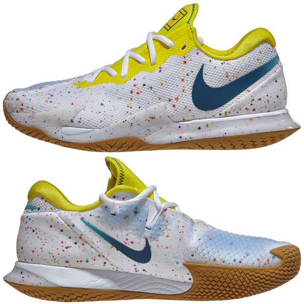 [나이키 여성용 에어 줌 베이퍼 케이지 4 테니스화] NIKE Women`s Air Zoom Vapor Cage 4 Tennis Shoes - White and Valerian Blue