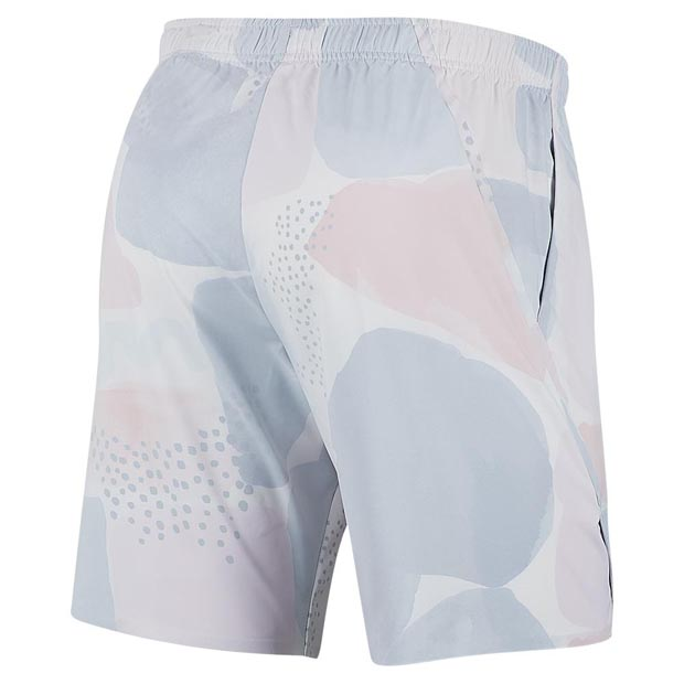 [나이키 남성용 팀 코트 플렉스 에이스 AOP 테니스 반바지] NIKE Men`s Melbourne Team Court Flex Ace All Over Print Tennis Short - White