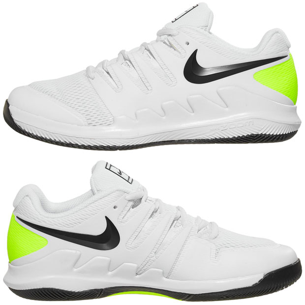 [나이키 쥬니어용 베이퍼 X 테니스화]NIKE Juniors` Vapor X Tennis Shoes - White and Black