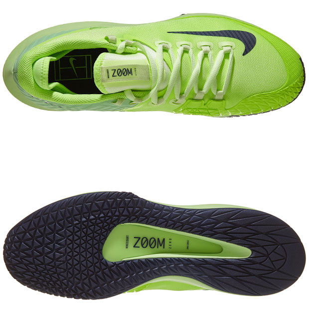[나이키 남성용 코트 에어 줌 제로 테니스화] NIKE Men`s Court Air Zoom Zero Tennis Shoes - Ghost Green and Barely Volt