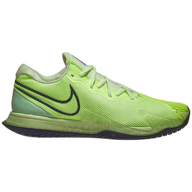 [나이키 남성용 에어 줌 베이퍼 케이지 4 테니스화] NIKE Men`s Air Zoom Vapor Cage 4 Tennis Shoes - Ghost Green and Barely Volt