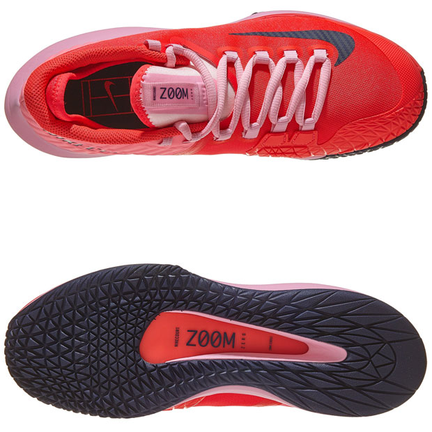 [나이키 여성용 코트 에어 줌 제로 테니스화] NIKE Women`s Court Air Zoom Zero Tennis Shoes - Laser Crimson and Pink