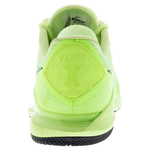 [나이키 남성용 에어 줌 베이퍼 X 니트 테니스화] NIKE Men`s Air Zoom Vapor X Knit Tennis Shoes - Ghost Green and Barely Volt