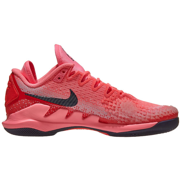 [나이키 여성용 에어 줌 베이퍼 X 니트 테니스화] NIKE Women`s Air Zoom Vapor X Knit Tennis Shoes - Laser Crimson and Pink