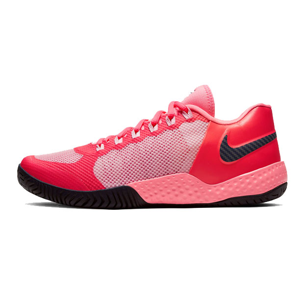 [나이키 여성용 코트 플레어 2 테니스화] NIKE Women`s Women`s Court Flare 2 Tennis Shoes - Laser Crimson and Pink