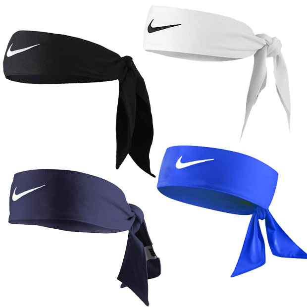[나이키 스우시 드라이핏 헤드 타이 2.0] NIKE Swoosh Dri-Fit Head Tie 2.0 - Midnight Navy/White