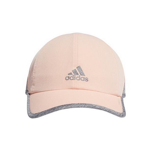 [아디다스 여성용 슈퍼라이트 테니스 모자] Adidas Women's SuperLite Tennis Hat - Glow Pink w/Heather Grey