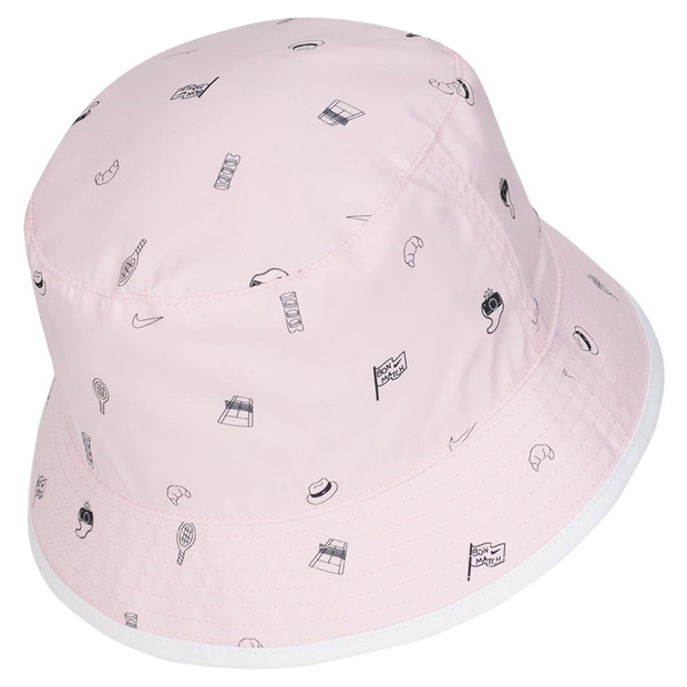 [나이키 남성용 코트 RG 프린트 리버시블 버킷 모자] NIKE Court RG All Over Print Reversible Bucket Hat - Pink Foam