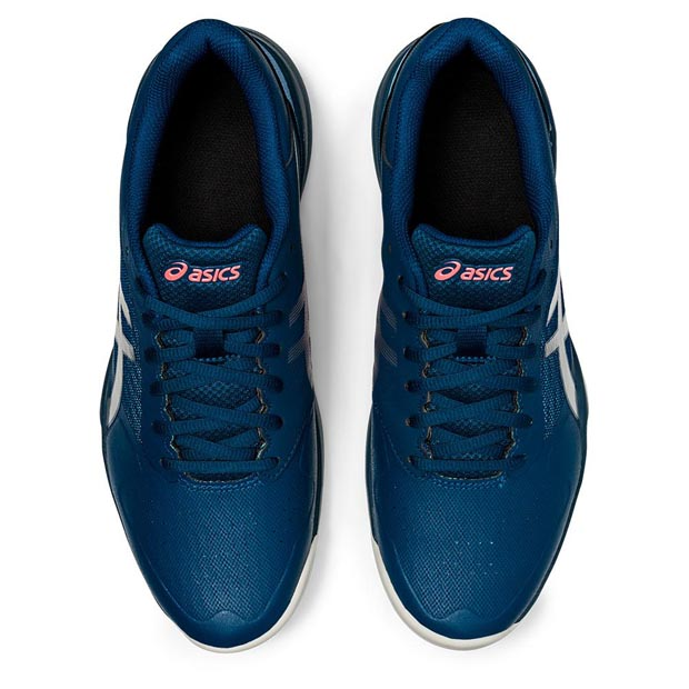 [아식스 남성용 젤-게임 7 테니스화] ASICS Men`s Gel-Game 7 Tennis Shoes - Mako Blue and Pure Silver