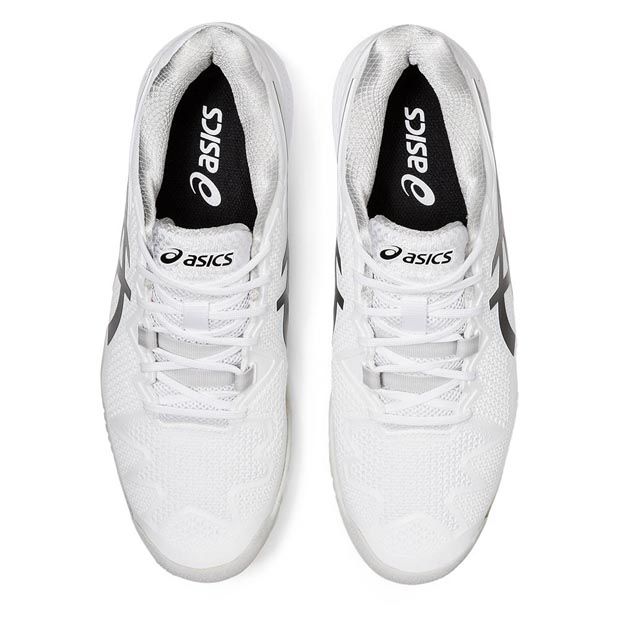 [아식스 남성용 젤 레졸루션 8 테니스화] ASICS Men`s GEL-Resolution 8 Tennis Shoes - White and Black