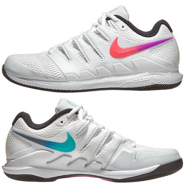 [나이키 남성용 에어 줌 베이퍼 10 테니스화] NIKE Men`s Air Zoom Vapor X Tennis Shoes - Summit White and Black