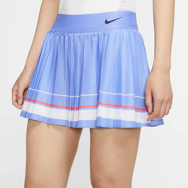 [나이키 여성용 마리아 코트 테니스 스커트] NIKE Women`s Maria Court Tennis Skirt - Royal Pulse and White