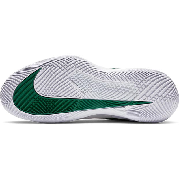 [나이키 여성용 에어 줌 베이퍼 X 니트 테니스화] NIKE Women`s Air Zoom Vapor X Knit Tennis Shoes - White and Clover