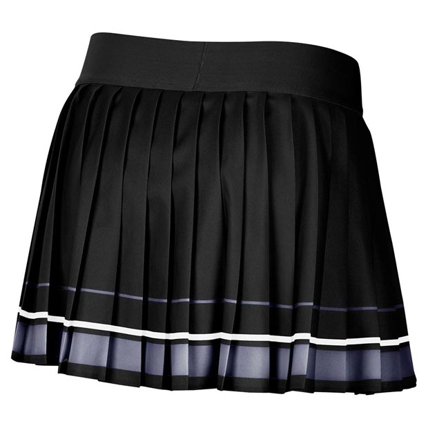 [나이키 여성용 마리아 코트 테니스 스커트] NIKE Women`s Maria Court Tennis Skirt - Black and Light Carbon