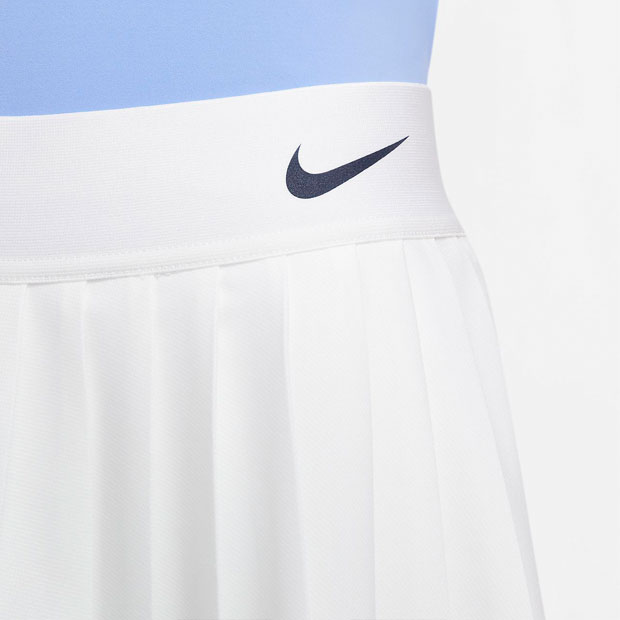 [나이키 여성용 마리아 코트 테니스 스커트] NIKE Women`s Maria Court Tennis Skirt - White and Royal Pulse