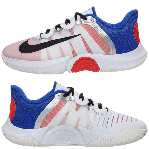 [나이키 남성용 코트 에어 줌 GP 터보 테니스화] NIKE Men`s Court Air Zoom GP Turbo Tennis Shoes - White and Racer Blue