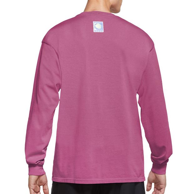 [나이키 남성용 코트 챌린지 긴소매 테니스 상의] NIKE Men`s Court Challenge Long Sleeve Tennis Top - Cosmic Fuchsia