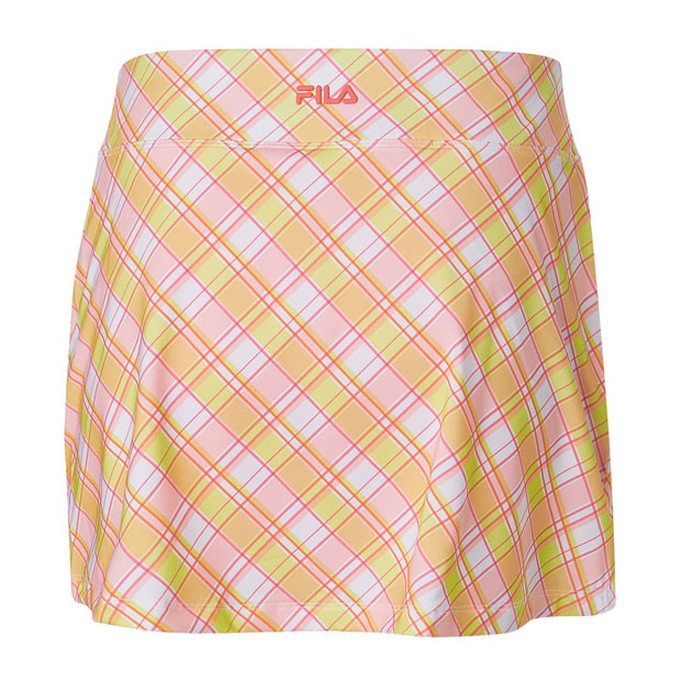 [휠라 여성용 Mad for Plaid 프린트 A라인 테니스 스커트] FILA Women`s Mad for Plaid Printed A-Line 13.5 Inch Tennis Skirt - Plaid