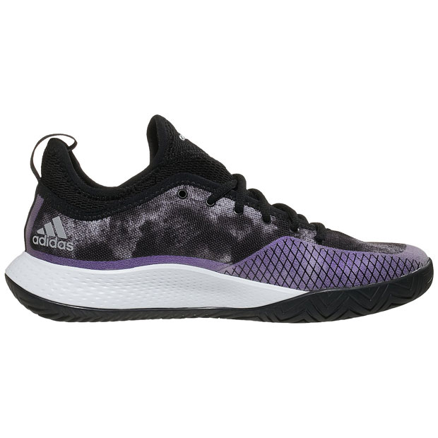 [아디다스 여성용 디파이언트 제너레이션 테니스화] adidas Women`s Defiant Generation Tennis Shoes - Core Black and Silver Metallic