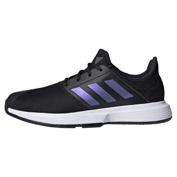 [아디다스 남성용 게임코트 테니스화] Adidas Men`s GameCourt Tennis Shoes - Core Black and Footwear White