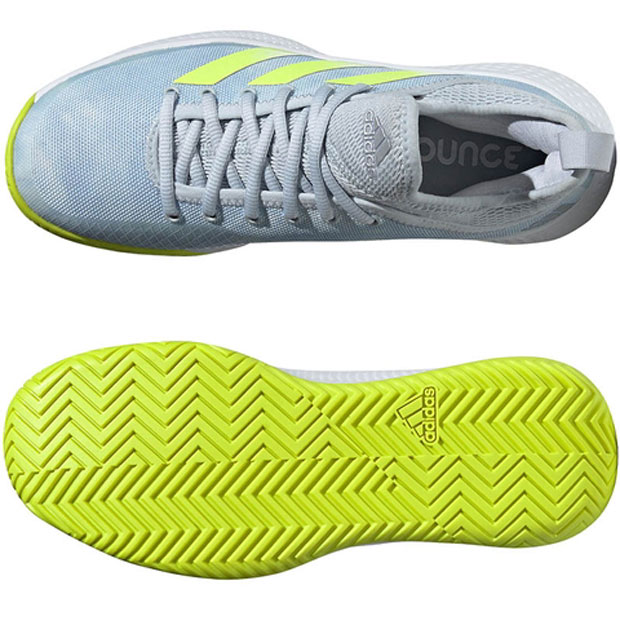 [아디다스 여성용 디파이언트 제너레이션 테니스화] adidas Women`s Defiant Generation Tennis Shoes - Halo Blue and Solar Yellow