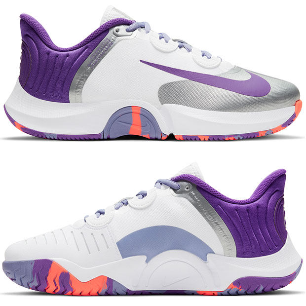[나이키 여성용 코트 에어 줌 GP 터보 테니스화] NIKE Women`s Court Air Zoom GP Turbo Tennis Shoes - White and Wild Berry