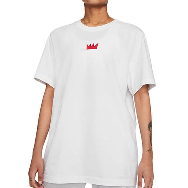 [나이키 남녀공용 세레나 윌리암스 Queen of the Court 티셔츠] NIKE Unisex SW Queen of the Court T-Shirt (Unisex Sizes) - White