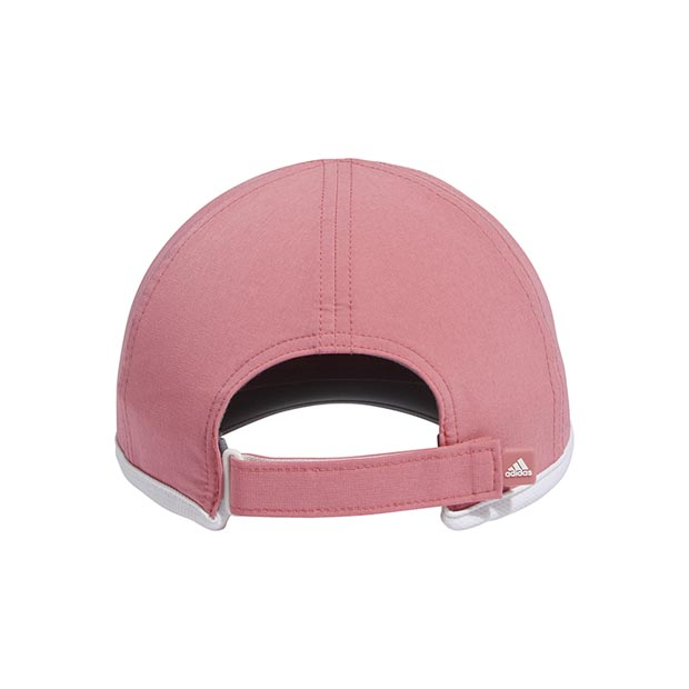 [아디다스 여성용 슈퍼라이트 테니스 모자] Adidas Women's SuperLite Tennis Hat - Hazy Rose and White