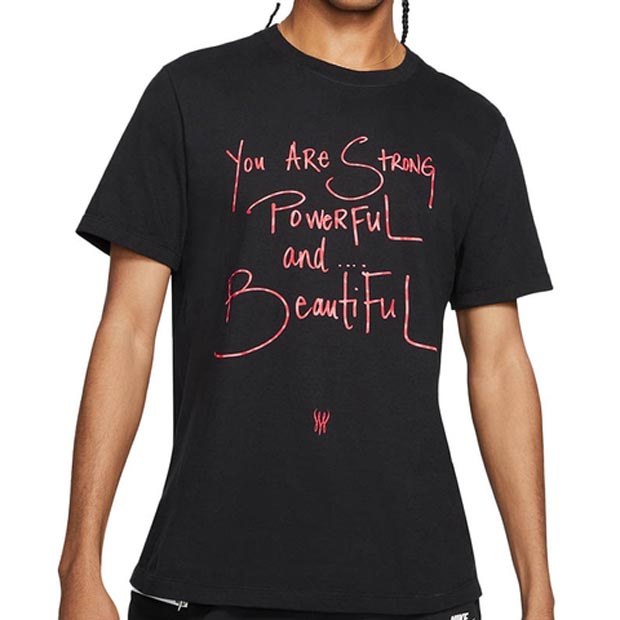 [나이키 남녀공용 세레나 윌리암스 Strong Powerful Beautiful 티셔츠] NIKE Unisex SW Strong Powerful Beautiful T-Shirt (Unisex Sizes) - Black
